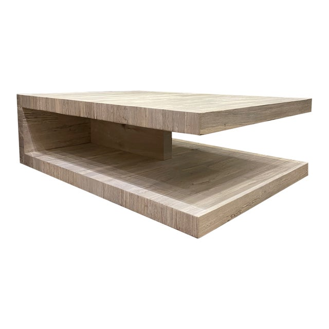 Cantilever Oak Coffee Table For Sale