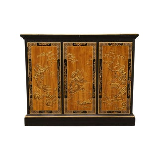 "Drexel Et Cetera Asian Chinoiserie 39"" Flip-Top Server For Sale"