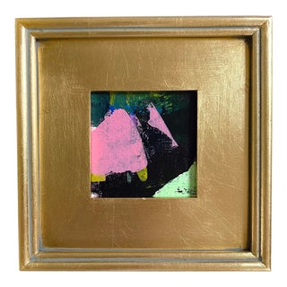 """Jessalin Beutler """"Patient Lady"""" 2021 Framed Mini Painting For Sale"""