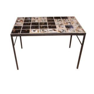 Mid-Century Modern Roger Capron Style Tile Topped Coffee Table