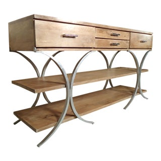 Vintage Industrial Style Console For Sale