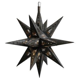 Moroccan Tin Star Lantern