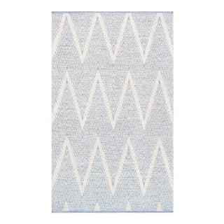 "Pasargad Simplicity Hand-Woven Aqua Cotton Rug- 8' 0"" X 10' 0"""