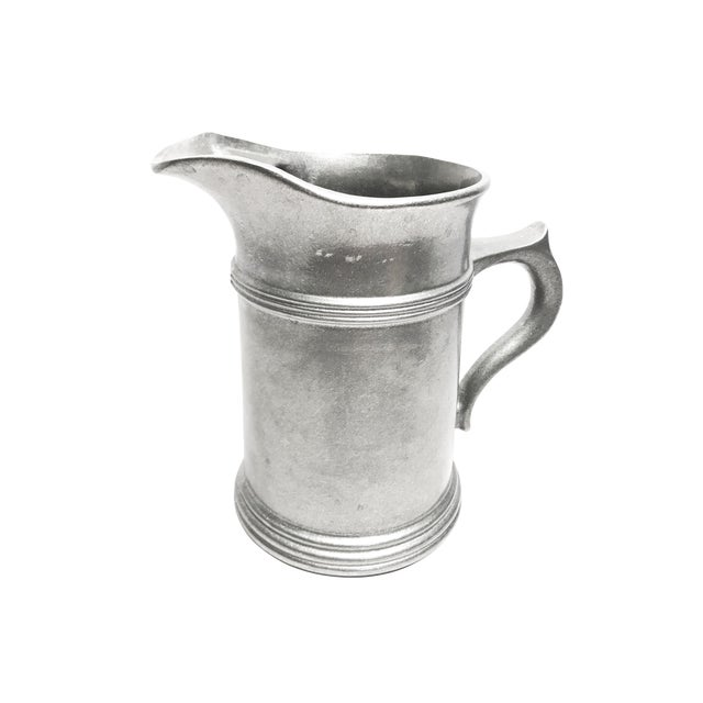 Large Vintage Solid Pewter Wilton Armetale Pitcher For Sale