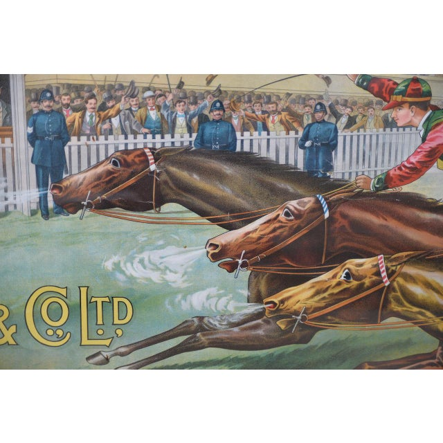 Oak 1001 to 1 Tyrconnell Wins! Victorian Whiskey Poster C.1900 For Sale - Image 7 of 12