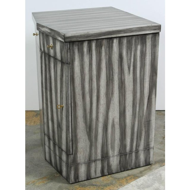 Paul Marra Pinnacle Nightstand in Zebra Finish For Sale - Image 9 of 9