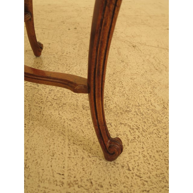 Drexel - Heritage French Style Walnut Occasional Table For Sale In Philadelphia - Image 6 of 8
