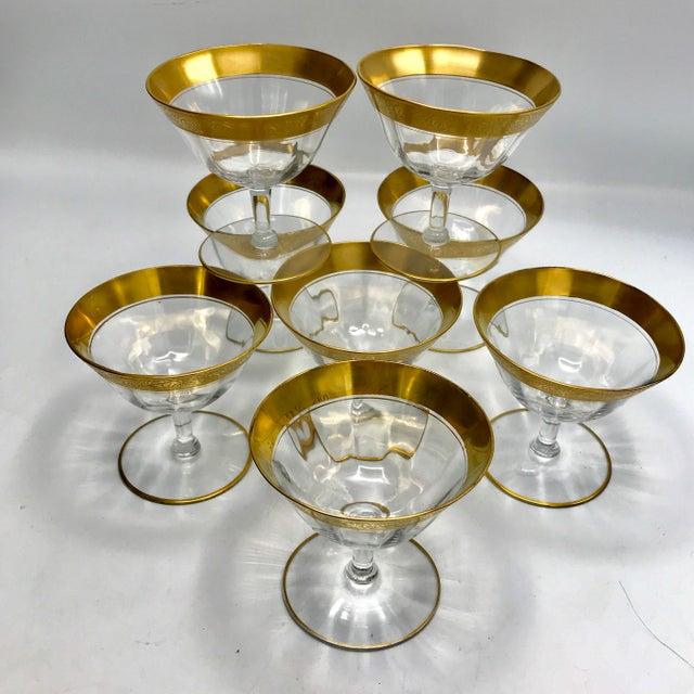 Art Deco 1930s Vintage Tiffin Franciscan Rambler Rose Crystal Stemware - Set of 26 For Sale - Image 3 of 8