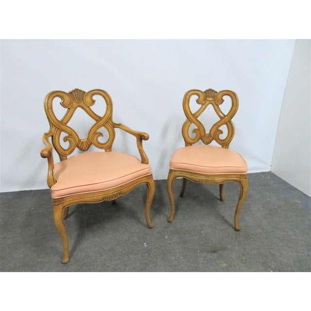 Louis XV Style Maple Shell Carved Dining Chairs- Set of 6 For Sale - Image 9 of 10