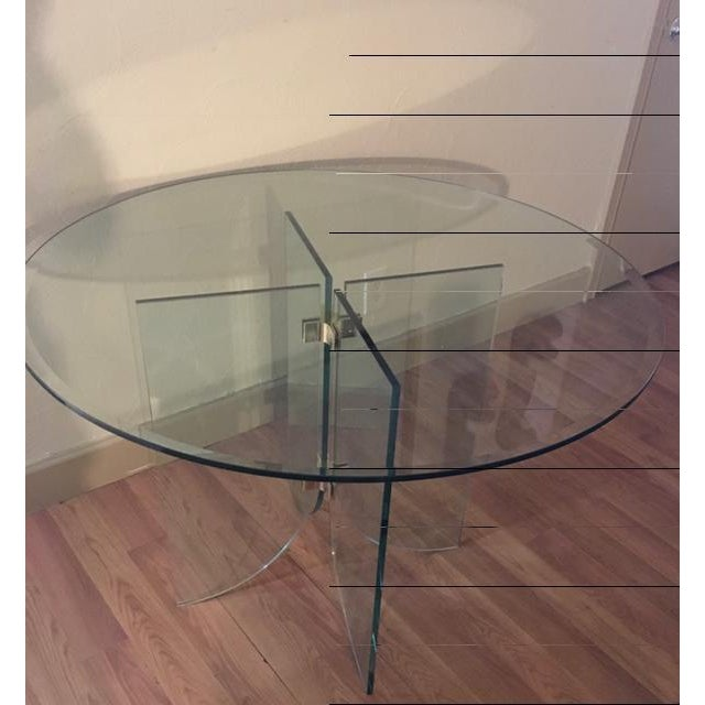 Pace Pedestal Glass Dining Table, Circa 1970 - Image 5 of 5