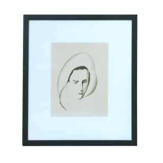 Early 20th Century Antique Marie Laurencin Woman's Face Etching Print For Sale
