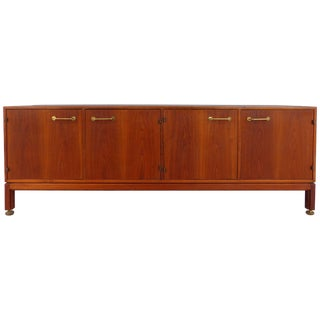 Jens Risom Solid Walnut Four-Door Credenza For Sale
