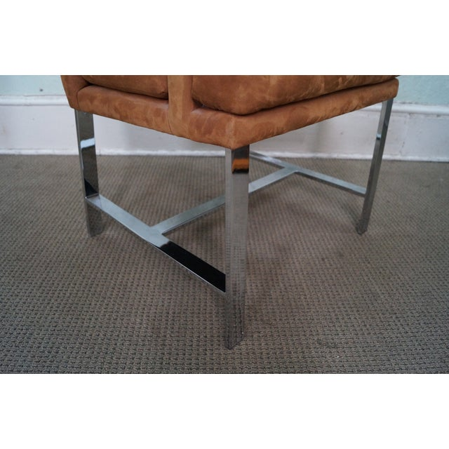 Milo Baughman Mid-Century Chrome Chairs - A Pair For Sale In Philadelphia - Image 6 of 10