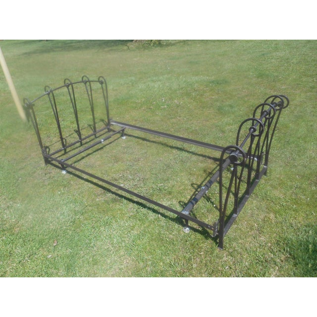 Wrought Iron Sleigh Twin Bed Frame - Image 5 of 10