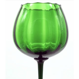 1970s Empoli Optic Emerald Long Stemmed Compote Preview