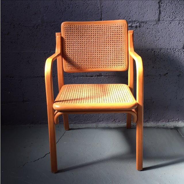 Danish Modern Bentwood Cane Chairs - Set of 6 - Image 3 of 11