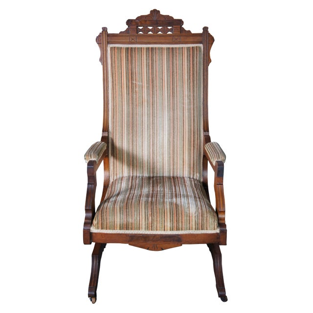 Buser's Champion Novelty Rocker from Champion Bed Lounge Co. Chillicothe, Ohio, Late 19th century. Made from walnut with...