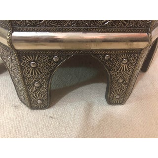 Moroccan Filigree Handcrafted White Brass Center Table Preview