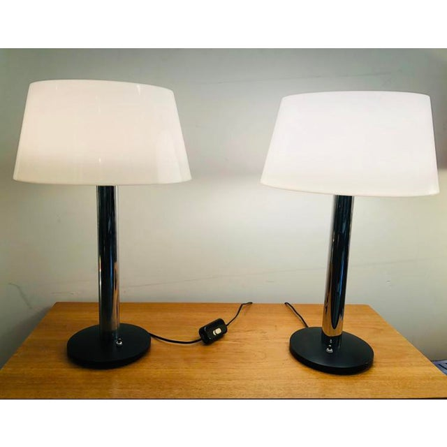 Black Vintage 1960s Lightolier Lamp by Gerald Thurston - a Pair For Sale - Image 8 of 9