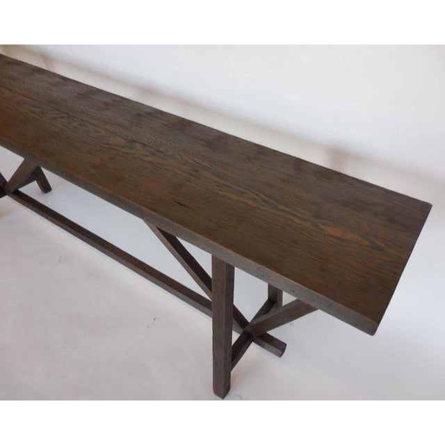 Early 19th Century Reclaimed Wood Buttress Console For Sale - Image 5 of 9