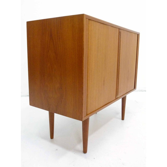 Danish Teak Record Cabinet by Povl Dinesen For Sale - Image 4 of 10