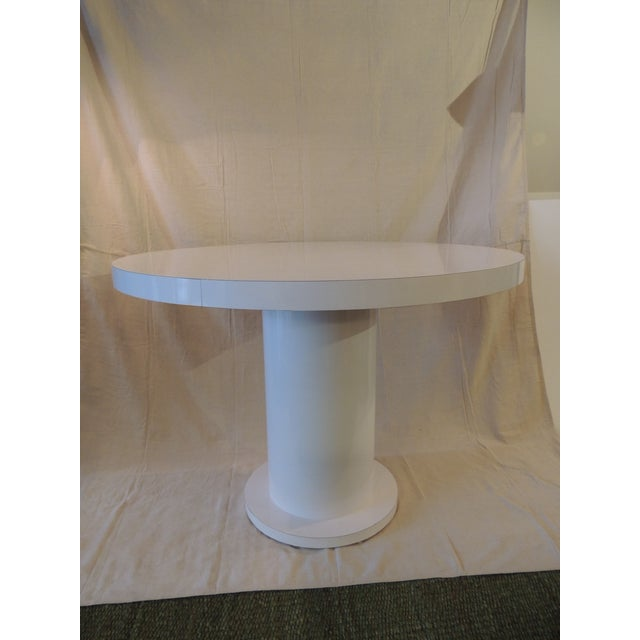 Vintage White Formica Circular Dining Table For Sale - Image 9 of 9