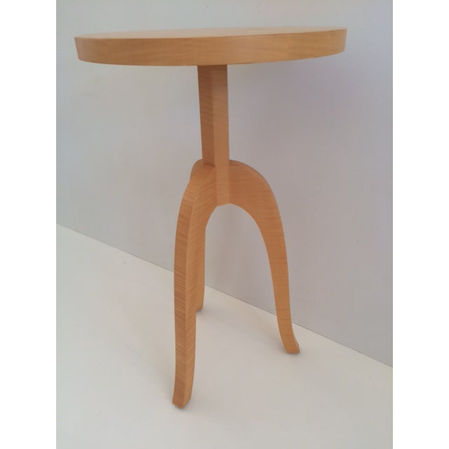 Modern Todd Hase Sycamore Marquetry Gueridon Table For Sale - Image 3 of 10