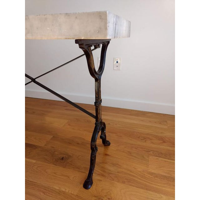 Black 20th Century French Marble & Iron Bistro Table For Sale - Image 8 of 10