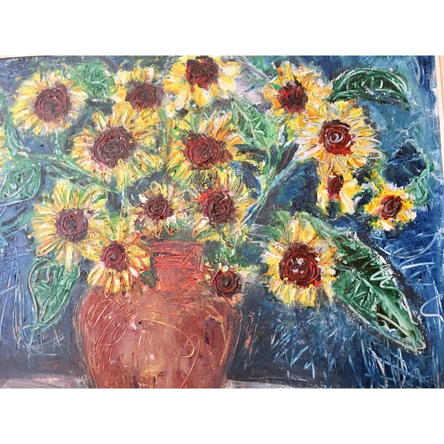 "Large ""Sunflower"" Painting by Trieste - Image 4 of 6"