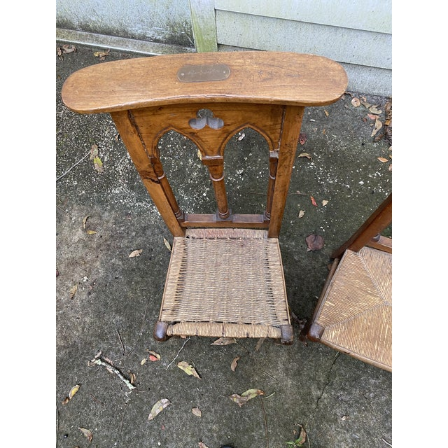 Antique Prayer Chairs - a Pair For Sale - Image 4 of 13