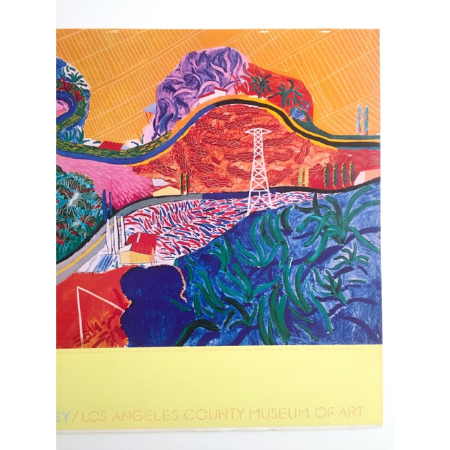 "Rare 1980 David Hockney Original Collotype Print Poster "" Mulholland Drive "" For Sale - Image 5 of 11"