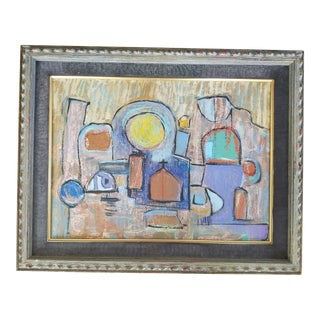 1980s Vintage Taos Abstract Painting For Sale
