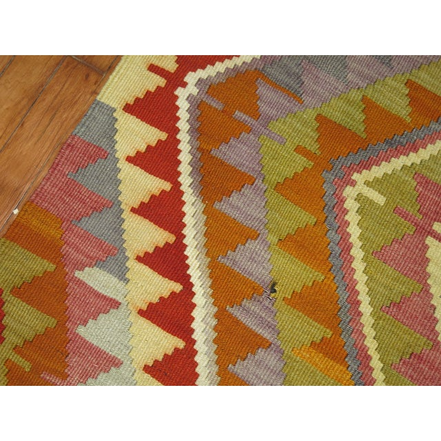 Vintage Turkish Kilim - 6′4″ × 10′5″ - Image 4 of 6