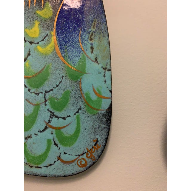 One of the earliest C. Jere pieces and the largest of the C. Jere enameled owls - five enameled owls on a branch. Very...
