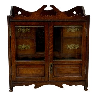 Early 20th Century Antique Tobacco Cabinet C.1920 For Sale