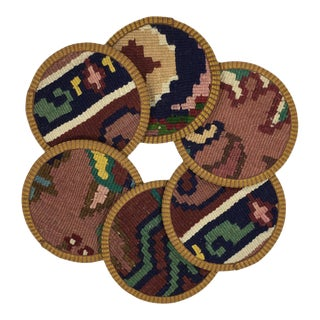 Kilim Coasters Set of 6 - Boregi For Sale