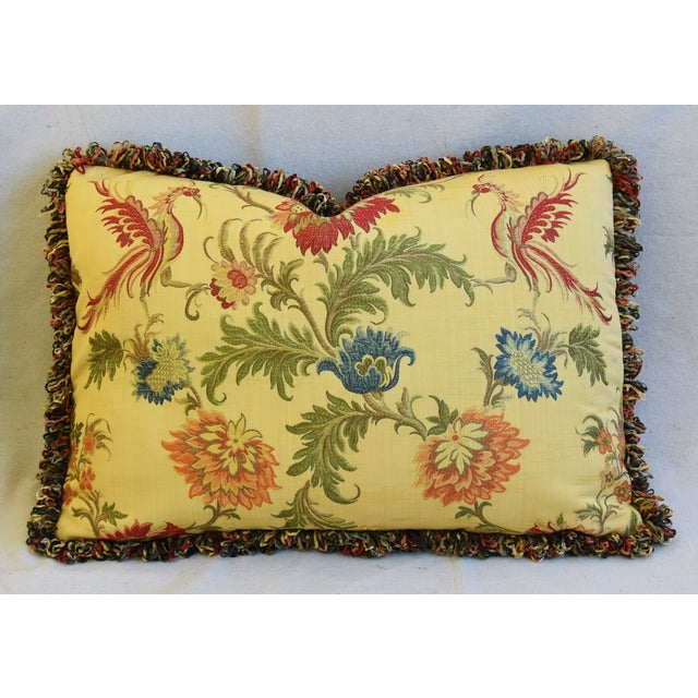 "Italian Coraggio Jacquard Feather/Down Pillows 24"" X 17"" - Pair For Sale In Los Angeles - Image 6 of 13"