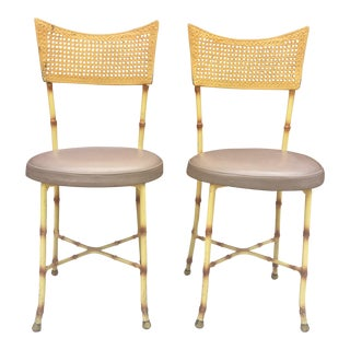 1970s Vintage Bamboo and Cane Chairs - A Pair For Sale
