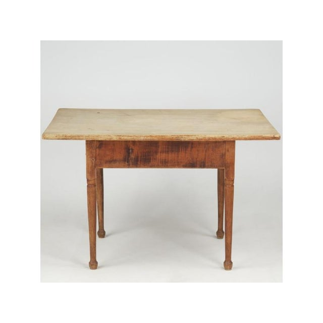 Antique American Pine Farm Table - Image 4 of 11