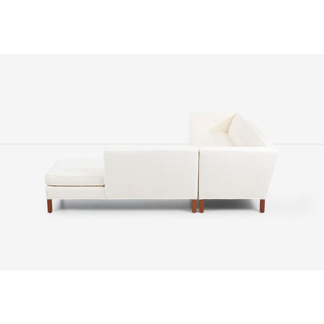Wood Edward Wormley for Dunbar Sectional Sofa For Sale - Image 7 of 13