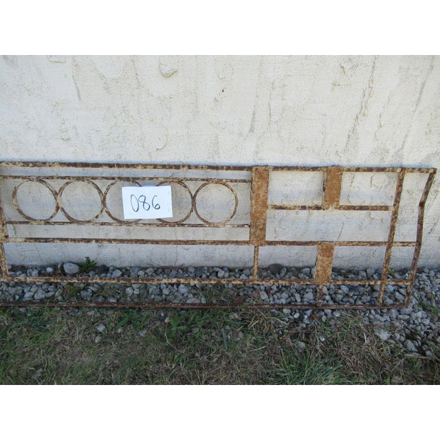 Antique Victorian Iron Gate Window Garden Fence Architectural Salvage Door #086 For Sale - Image 4 of 6