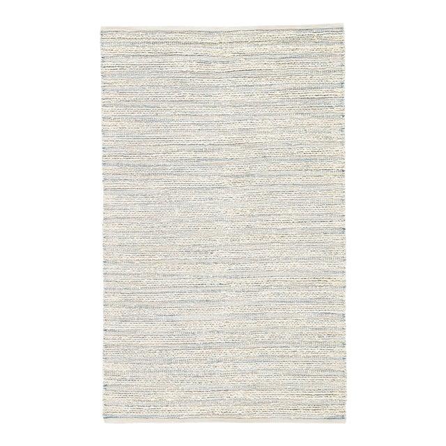 Jaipur Living Canterbury Natural Stripe White/ Blue Area Rug - 9' X 12' For Sale