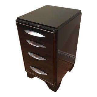 Art Deco Black Lacquer Chest/Side Table