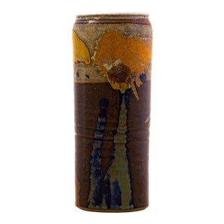 Sinclair Ashley Studio Pottery Stoneware Vase, Signed For Sale