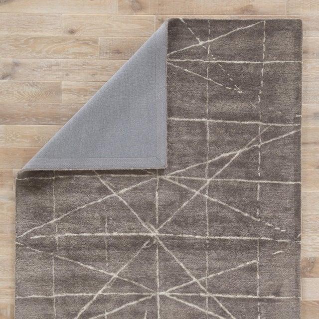 Jaipur Living Duval Handmade Geometric Dark Gray/ Silver Area Rug - 5' X 8' For Sale - Image 4 of 6