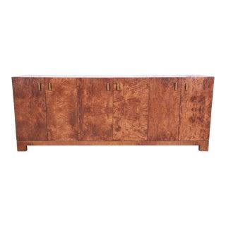 John Widdicomb Mid-Century Modern Burl Wood Sideboard For Sale