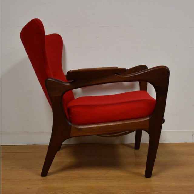 Adrian Pearsall Wing Back Lounge Chair For Sale - Image 5 of 11