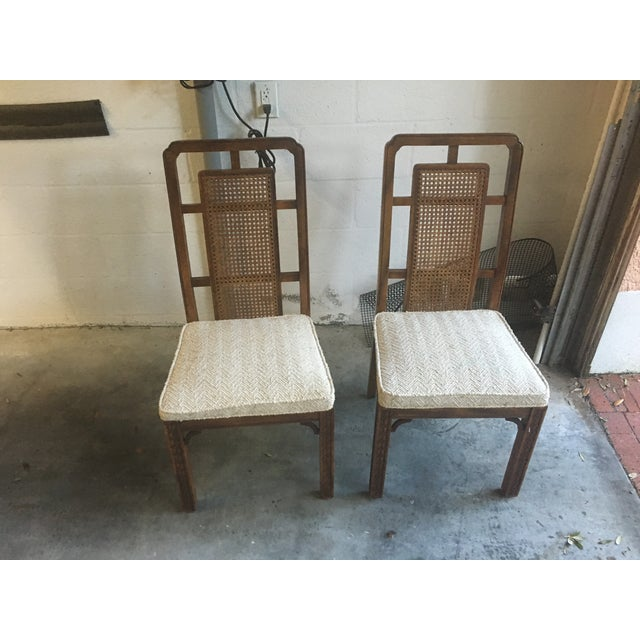 Vintage Fretwork Dining Chairs - Set of 4 - Image 2 of 4