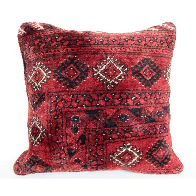 Textile Turkish Vintage Carpet Cushion Cover For Sale - Image 7 of 7