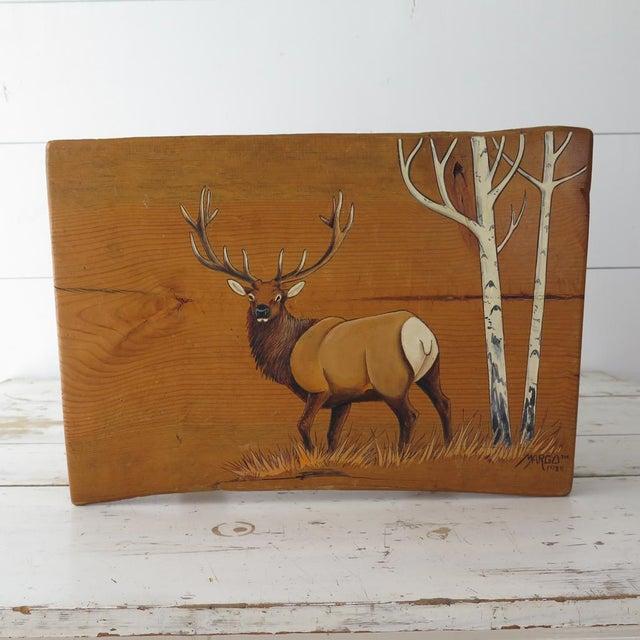 Etching Split Log Side Table For Sale - Image 7 of 9